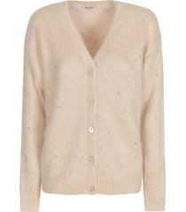miu miu embellished ribbed cardigan