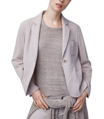 b new york cotton one-button blazer