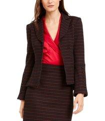 nanette lepore striped tailored blazer