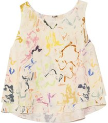 agnes top in brushstrokes floral