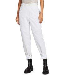 rta women's dallas oversized cargo pants - track white - size 24 (0)