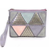 sequined patchwork luxury designer studded rivet envelope clutch messenger bag