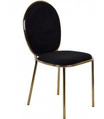 krzesło welurowe mia czarne