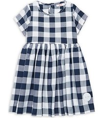 little girl's & girl's buffalo check dress
