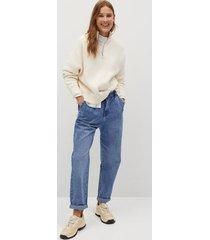 baggy jeans met elastische tailleband