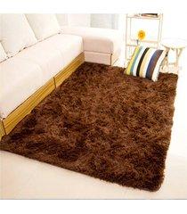 11 colores 80*120cm  salón suelo yoga mats alfombras sala casa cuarto de dormir(marron oscuro)