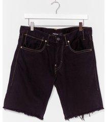 womens vintage made the cut denim shorts - black
