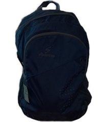 mochila negra diportto porta notebook acolchada, impermeable con dos compartimentos