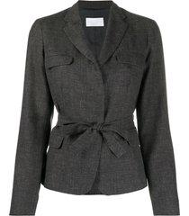 fabiana filippi belted fitted jacket - grey