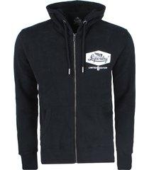superdry heren vest mono zipped hoodie -