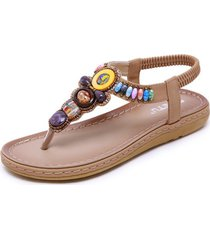sandalias de mujer sandalias con cuentas retro