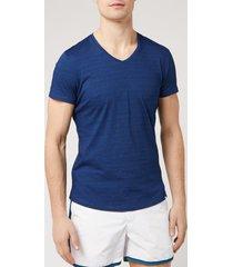 orlebar brown men's v-neck t-shirt - denim pigment - xl - blue
