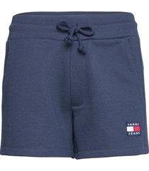 tjw tommy badge sweatshort shorts flowy shorts/casual shorts blå tommy jeans