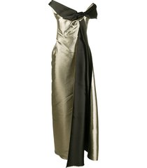 a.n.g.e.l.o. vintage cult 2000s bow detail gown - gold