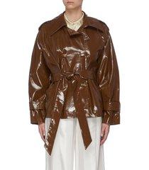 'biel' crop trench jacket