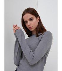 motivi maglia girocollo donna grigio