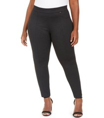 anne klein plus size twill seamed leggings