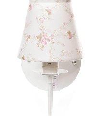 arandela 1 lâmpada potinho de mel rosa