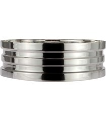 cachepot bowls em espelho prata shefield plate - incolor - dafiti