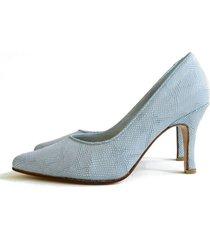 zapato celeste battaglia laguna stiletto