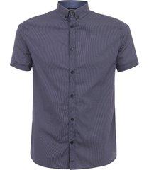 armani jeans fantasia blue short sleeve shirt 3y6c07