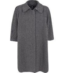 stella mccartney pattern printed flared coat