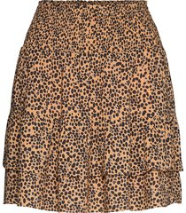 eli short skirt kort kjol brun second female