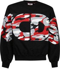 gcds logo round camo sweatshirt