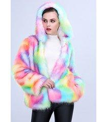 one-piece women long plush fur coat