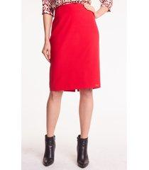 czerwona spódnica ołówkowa