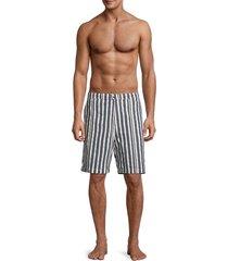 solid and striped men's the boardshort striped swim shorts - blue cream - size s