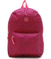 mochila clio style estampada roxa