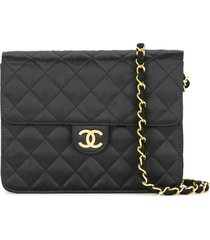 chanel pre-owned 1989-1991 quilted cc logo single chain shoulder bag -