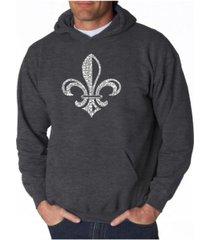 la pop art men's word art hoodie - when the saints go marching in