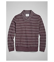1905 collection textured stripe cotton men's sweater - big & tall clearance