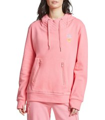 juicy couture women's face mask hoodie - pink popsicle - size l