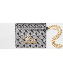 river island womens grey ri monogram card holder wallet