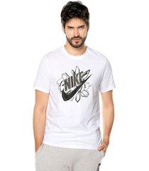 camiseta blanco-negro nike nsw ss