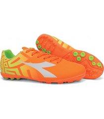 botín naranja diadora  quetzal tf -9960186