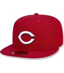 boné cincinnati reds 5950 game cap fechado vermelho new era