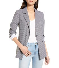women's chelsea28 check blazer, size large - black