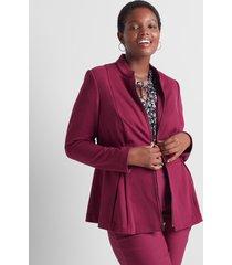 lane bryant women's ponte peplum jacket 26 purple