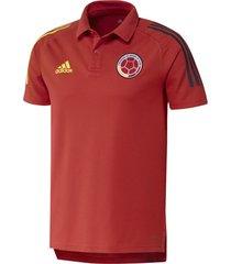 camiseta polo adidas selección colombia color rojo masculino