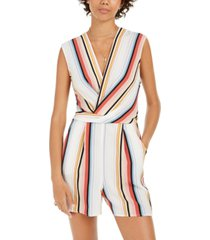 speechless juniors' surplice striped romper