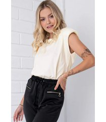 blusa pkd muscle tee off white
