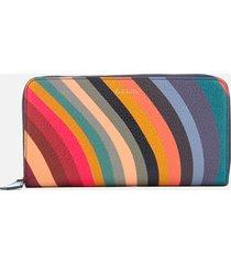 paul smith women's swirl large zip around purse - multi