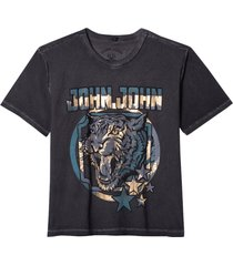 t shirt blue tiger (preto, gg)