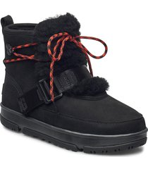 w classic weather hi shoes boots ankle boots ankle boot - flat svart ugg