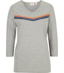 maglia a righe con maniche a 3/4 (grigio) - john baner jeanswear