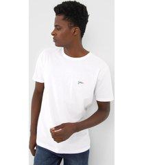 camiseta yachtsman logo branca